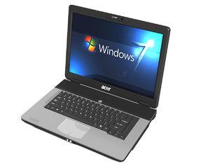 acer laptop 3d obj