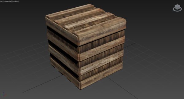 3ds max wooden box