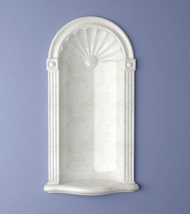 3d model cresent wall niche