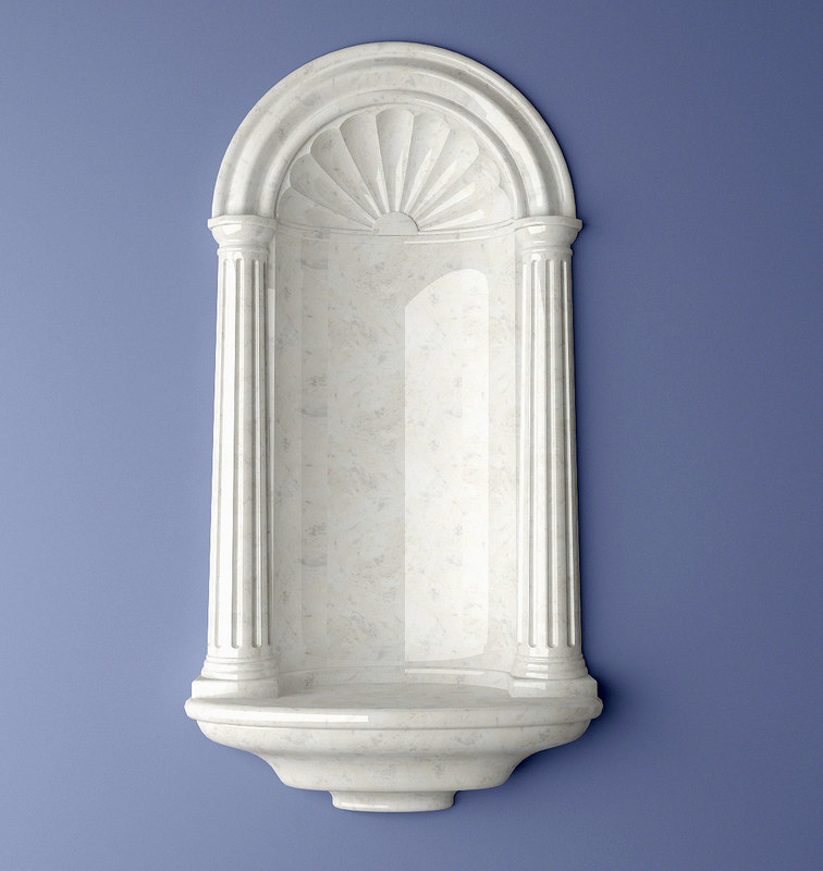 recessed wall henta colonial 3d max