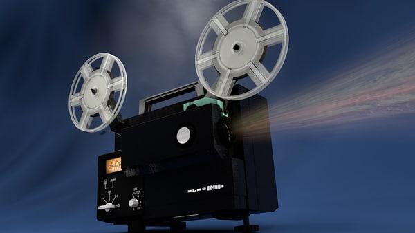 projector cinefilm 3d model