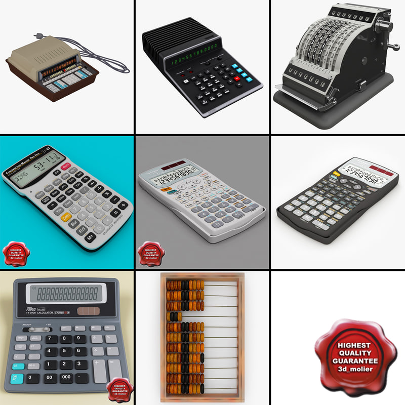 calculators 3 3d obj