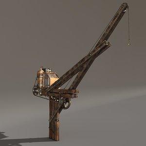 steampunk crane 3d c4d