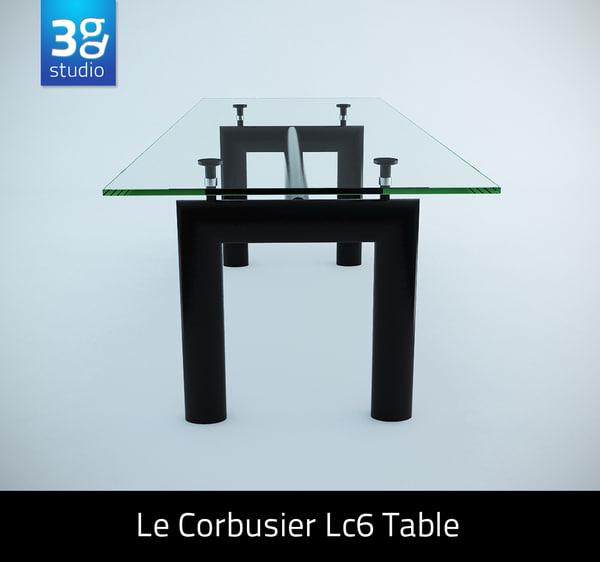 le corbusier lc6 table 3ds