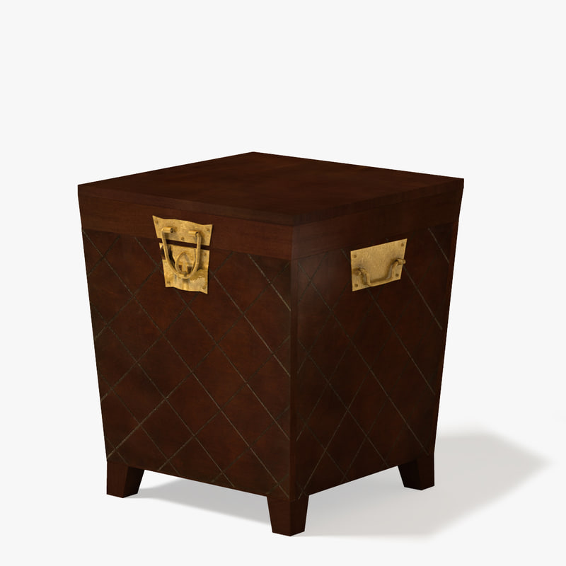 end table leather 3d model