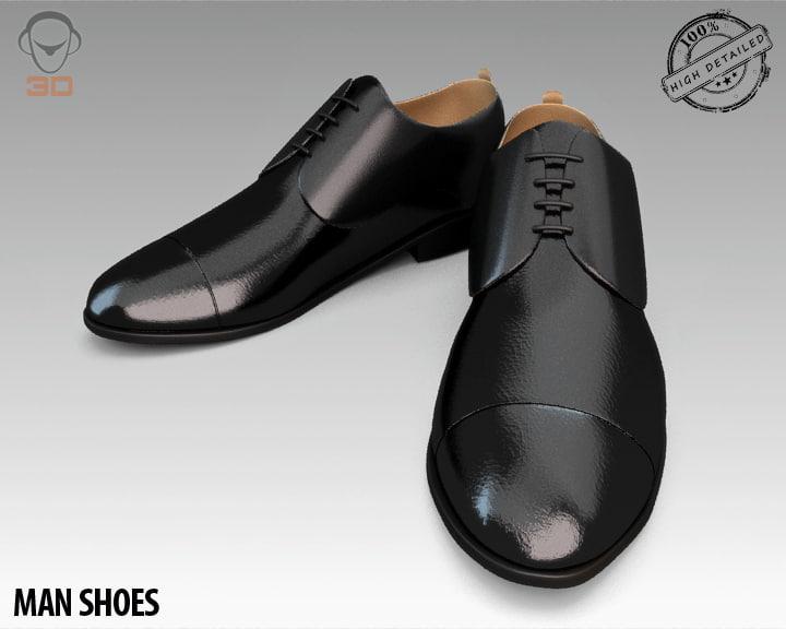 man shoes 3d obj