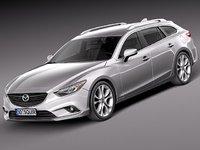 mazda 6 2013 car 3d model