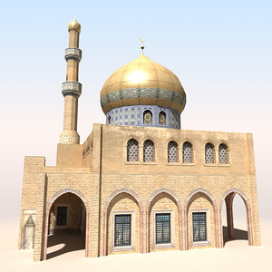 mosque arab afghan 3d model