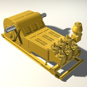 mud pump oil 3d max