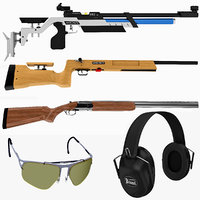 Shooting Rifles and Protection Collection