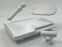 PS3, PSP, Move, Eye - simple models