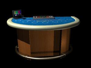 blackjack table las vegas 3d model