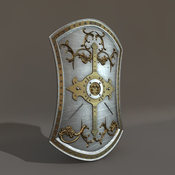 gothic knight shield 3d model