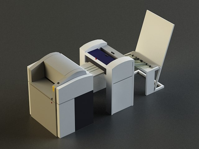 small offset printer 3d model