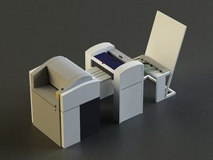 small offset printer 3d model