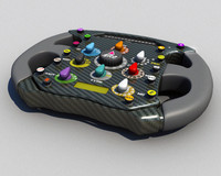 3ds max ferrari formula steering wheel