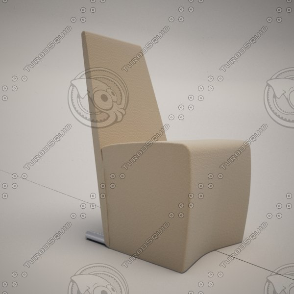cattelan italia vanilla dining chair 3d 3ds