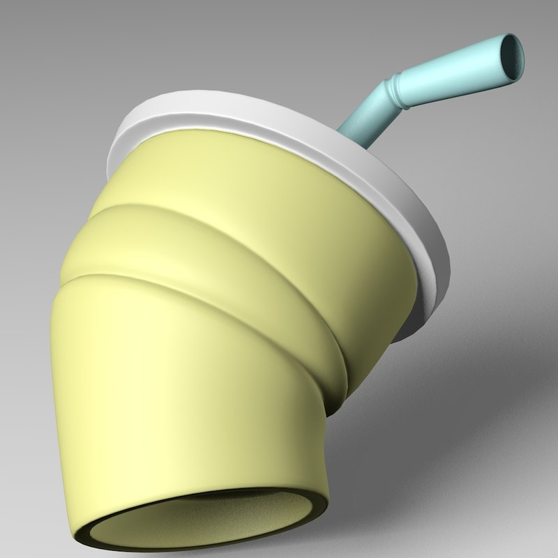 3ds max crushed cup