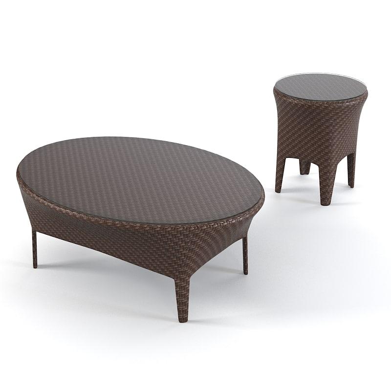 Dedon Tango Coffee Table Set