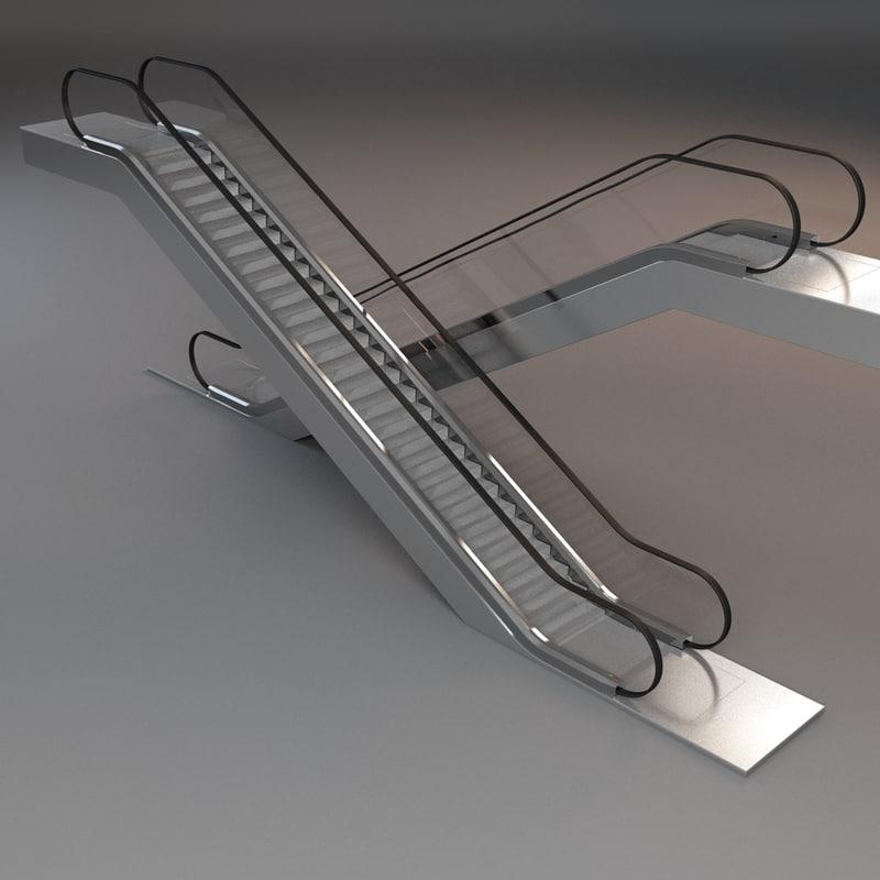 escalator stair 3d model