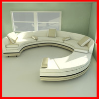 3ds rounded sofa interior