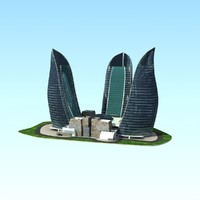 3d flame towers