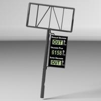 3d gas station sign