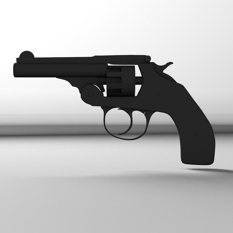 c4d hand gun