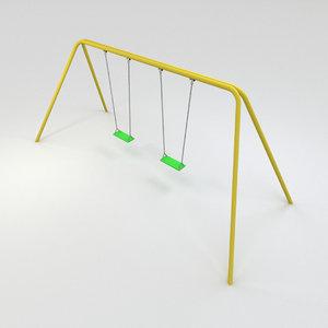 seat classic swing obj