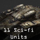 3d sci-fi military pack pro