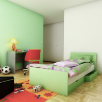 3d child bed