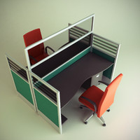 3d cubicle workstation