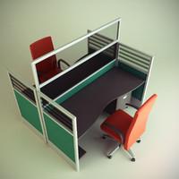 3d cubicle workstation