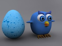 owl egg 3d 3ds