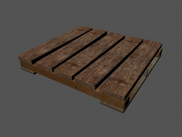 pallet warehouses 3d obj