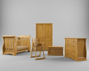 set nursery furniture 3d model