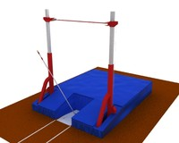 pole vault bar and mat