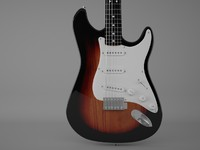 3d instrument guitar model