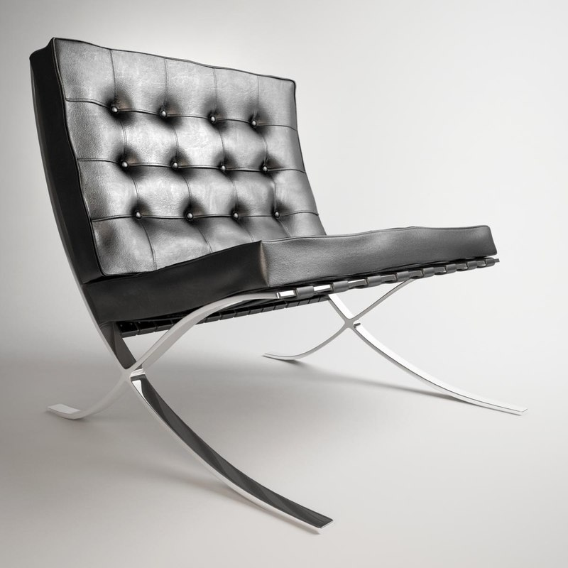 knoll barcelona chair 3d 3ds