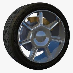 rim wheel sport 3d model