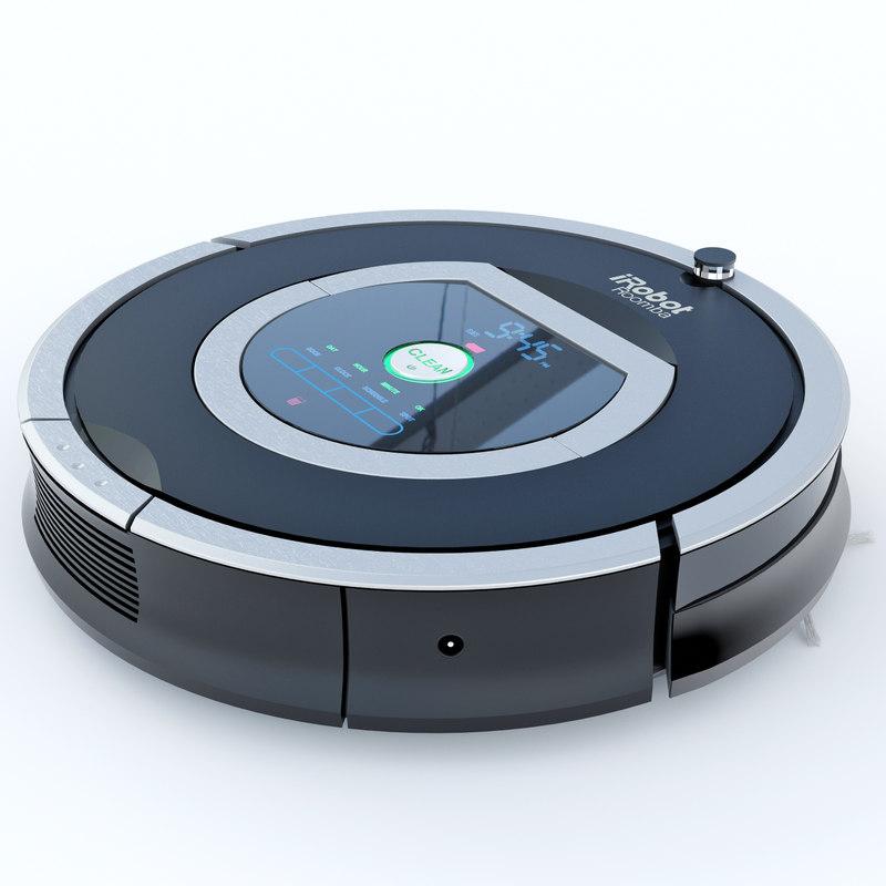 3dsmax vacuum cleaner roomba 780