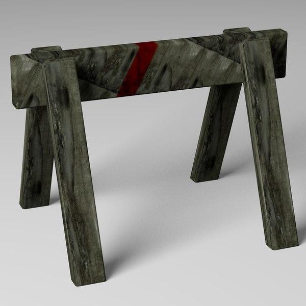 saw horse 3d model