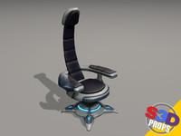 3dsmax sci-fi chair
