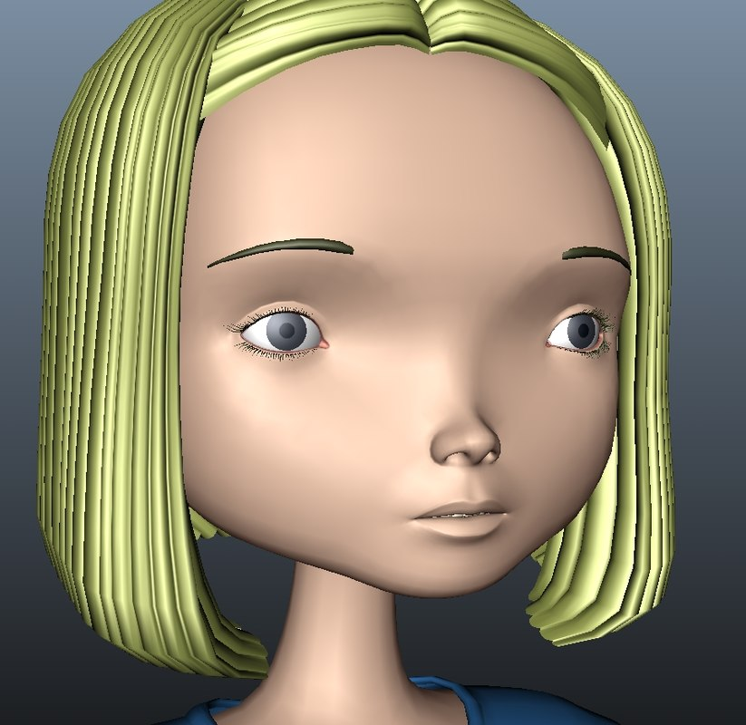 3d toon character
