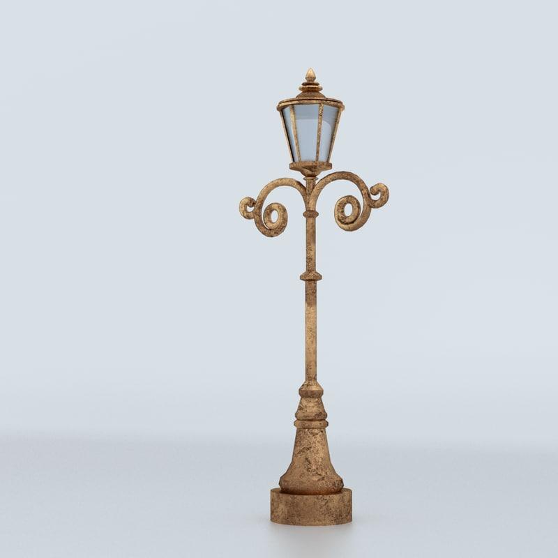lamp decorated 3d max