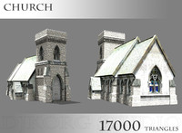 3d church chapel