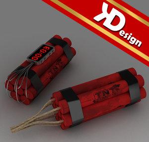 3ds max tnt dynamites