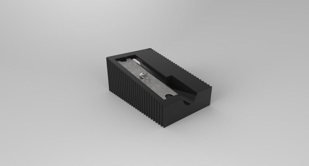 3d pencil sharpner blade model