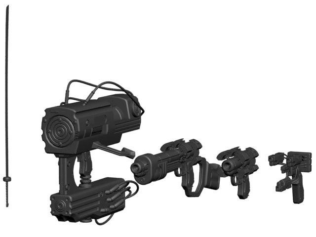 weapons gantz 3d obj