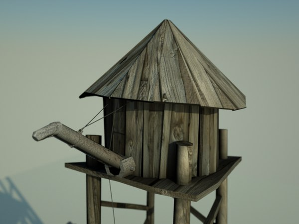 3d far water tower model